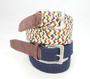 Elastic Braided Woven Belt of Metal Buckle