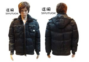 Men Fashion Hoody Winter Padding Long Sleeve Jacket (SY-1550) pictures & photos