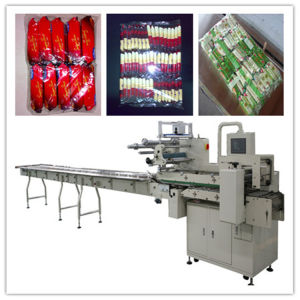 Assembling on Edge Cracker Packaging Machine with Feeder pictures & photos