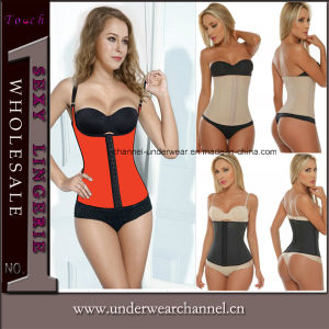 Sexy Latex Steel Sport Waist Training Underwear Lingerie Corset (TW881) pictures & photos