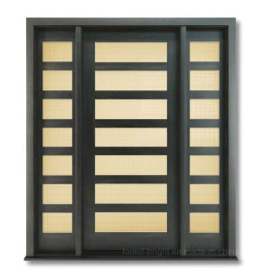 Contemporary Style Exterior Solid Wooden Door with Glass pictures & photos