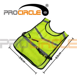 High Visibility Neon Yellow Safety Reflective Vest (PC-RV1001) pictures & photos