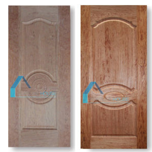 Coloration Teak/Cherry Wood Veneer Laminate Moulded HDF Door Skins pictures & photos