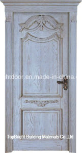 Cheap Single Solid Wooden Interior Door Swing Designs for Rooms pictures & photos