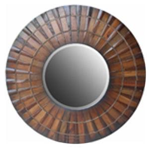 Anitque Decorative Wooden Round Mirror Frame (LH-423764) pictures & photos