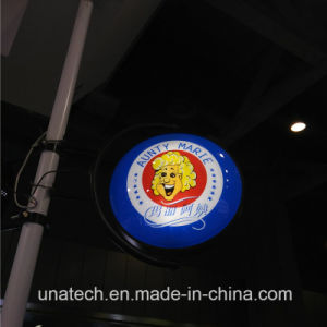 Round Outdoor/Indoor Bank Plastic Vacuum LED Light Box Signboard pictures & photos