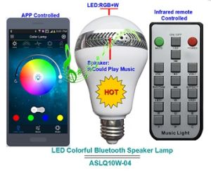LED Lamp with Bluetooth Audio Playbulb