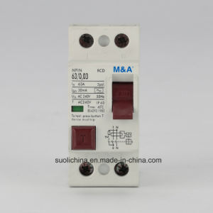 Nfin 2p, 4p Electromagnetic Type Residual Current Device (RCD RCCB ELCB) Ce Certificates pictures & photos