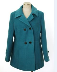 Wool Coat Newest Blue Double Breasted Overcoat, Ladies Wool Long Winter Coats