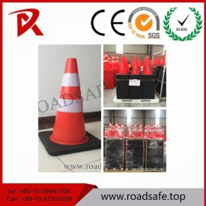 Flexible 900mm Roadwork Safety PVC Traffic Cone with 2 Reflective Bands pictures & photos