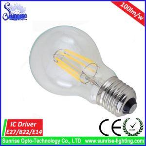 100lm/W A60 6W LED Filament Incandescent Bulb