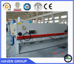 NC Hydraulic guillotine shearing machine machine shears pictures & photos