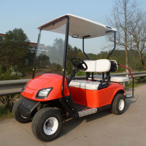 Red 4 Seat Electric Power Golf Cart (JD-GE501B) pictures & photos