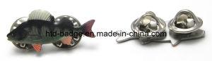 Customized Epoxy Printing Fish Pin (PN094)