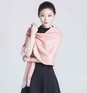 100% Alashan Cashmere Scarf in Solid Color; Woollen Cashmere Scarf pictures & photos