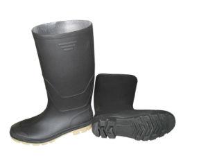 Safety Black Rubber Rain Shoes pictures & photos