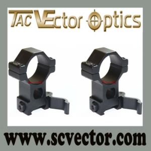 Vector Optics One Pair Tactical See Through 30mm Quick Release High Picatinny Mount Ring Fit on 21mm Picatinny Rail pictures & photos