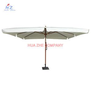 Hz-Um108 Wood Umbrella Wood Paraslo Outdoor Umbrella Beach Umbrella Garden Umbrella pictures & photos
