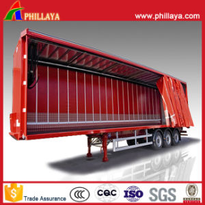 Three Axles Container Curtain Trailer pictures & photos