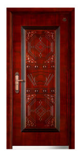 Armored Door with Steel and Wood (HT-C-116)
