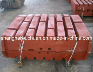 Manganese Casting Parts Jaw Plate for Jaw Crusher pictures & photos