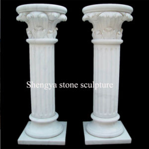White Marble Stone Sculpture Column (SY-C023) pictures & photos