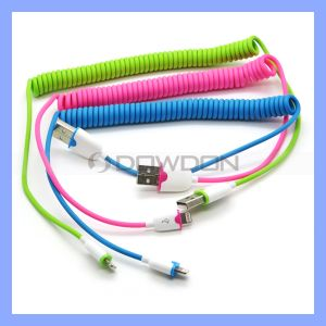 Matt Color Coiled USB Lightning Charge Cable for iPhone 6/6plus/5/5s Spring Design Charging Cable pictures & photos