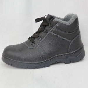 Cheap Winter Safety Shoes Russia Black pictures & photos