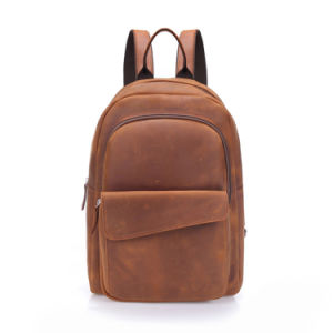 2017 Hot Selling Real Leather Bag School Backpack for Student pictures & photos