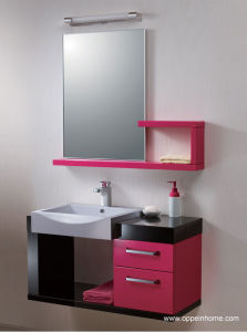 Lacquer SGS Approved Bathroom Cabinet (OP-W1159-100)
