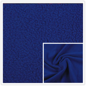 Solid Dyed Spun Polar Fleece Plain Polar Fleece 100% Polyester Terry Fleece High Quality pictures & photos