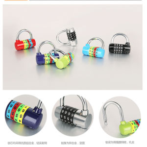 Zinc Alloy Steel Door Combination Lock Padlock Number Combination Round Shape pictures & photos