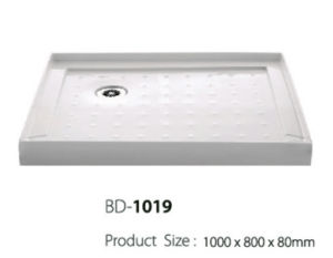 One Meter Long Left Corner Drain Shower Base (BD-1019) pictures & photos