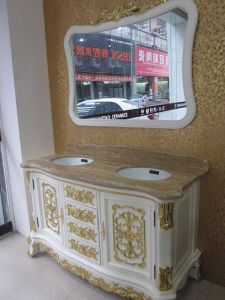 New Sanitary Ware Solid Wood Luxury Stylebathroom Vanity (B8067) pictures & photos