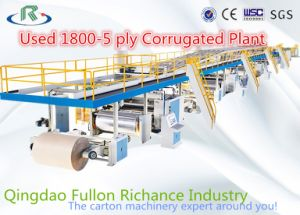 Used 1800-5-Ply Automatic Corrugated Paperboard Production Line (2013) pictures & photos