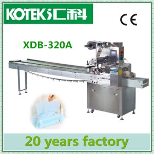 Flow Automatic Wet Wipe/Tissue Paper Packing Machine pictures & photos