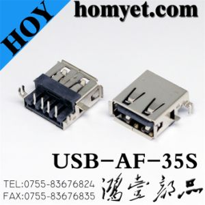 USB Connector with a Type Female for Electric Accessories (USB-AF-35S) pictures & photos