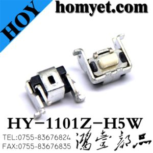 High Quality Tact Switch/Micro with White Button 5mm High (HY-1101Z-H5W) pictures & photos