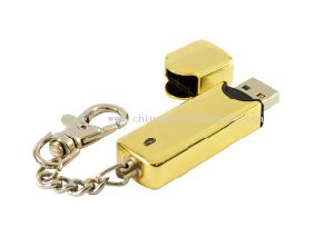 Nickel Plating Metal USB Flash Drive with Popular Shape, Durable pictures & photos