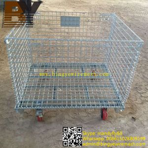 Foldable Wire Mesh Bulk Containers pictures & photos