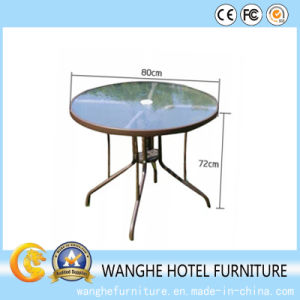 Living Room Hotel Assembling Round Coffee Table with Glass pictures & photos