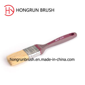 Rubber Plastic Handle Synthetic Filament Paint Brush (HYP075) pictures & photos
