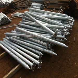 Spiral Post Helical Ground Screw Piles for Foundation of Solar Photovoltaic Brackets pictures & photos