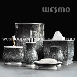 Polyresin Bath Accessories with Crackle Glass (WBP0825A) pictures & photos