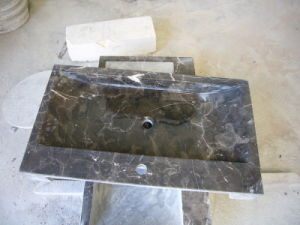Dark Emperador Marble Bathroom Vanity Top Sink pictures & photos