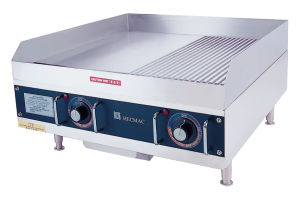 24 in Commercial Electric Half Grooved and Half Flat Griddle (FEHCC218) pictures & photos