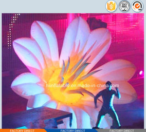 2015 Hot Selling Stage Decoration Inflatable Flower with LED Light 0001