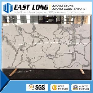 Amazing Calacatta White Quartz Engineered Polished Quartz Stone pictures & photos