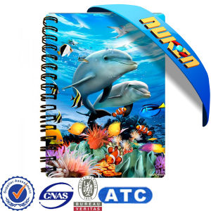 Lenticular Cover Spiral Notebook pictures & photos