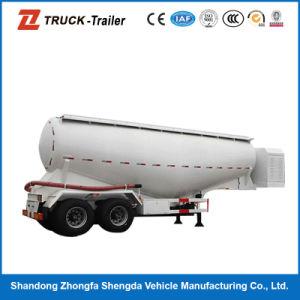 V Shape 3 Axle Powder Tank Semi Trailer for Powder Transportation